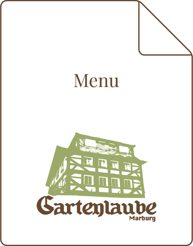 Gartenlaube Marburg Speisekarte englisch Icon