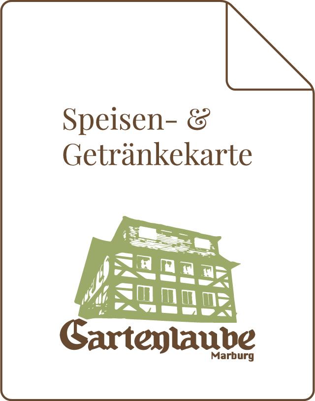 Gartenlaube Marburg Speisen- und Getränkekarte