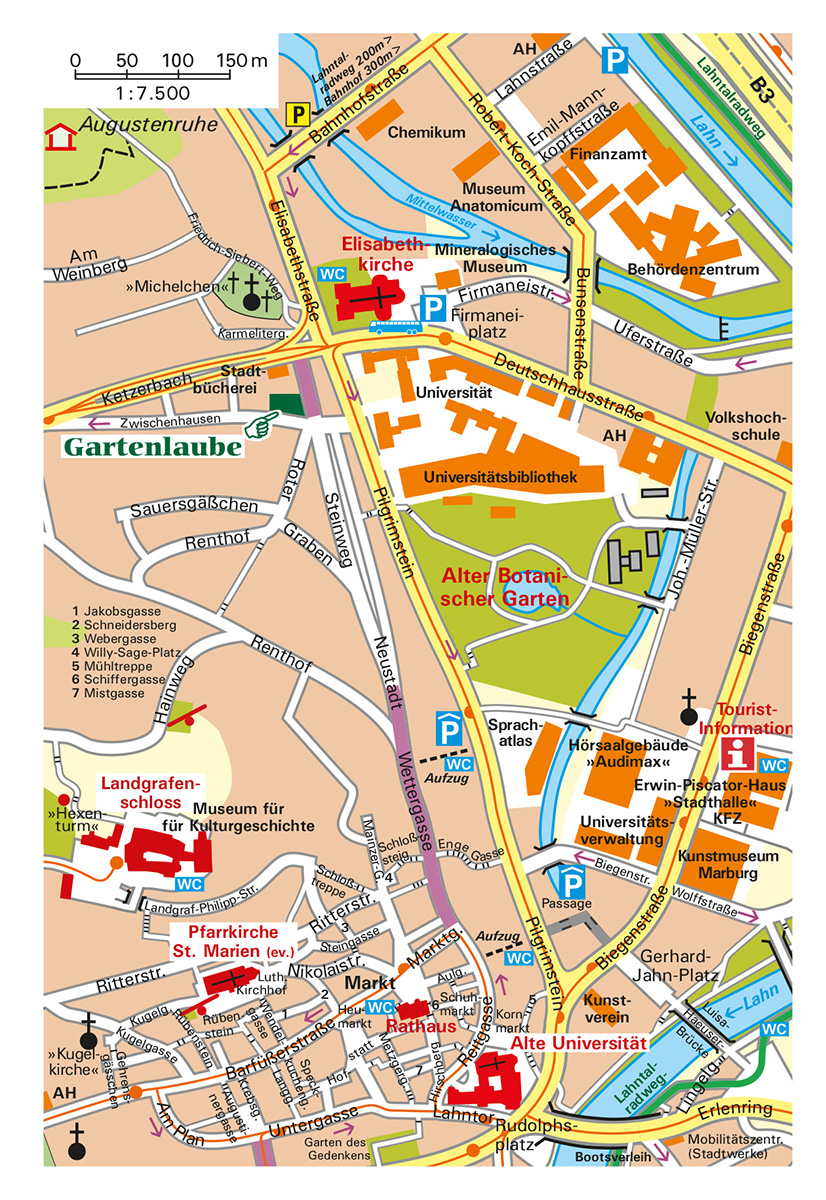 Stadtplan Marburg