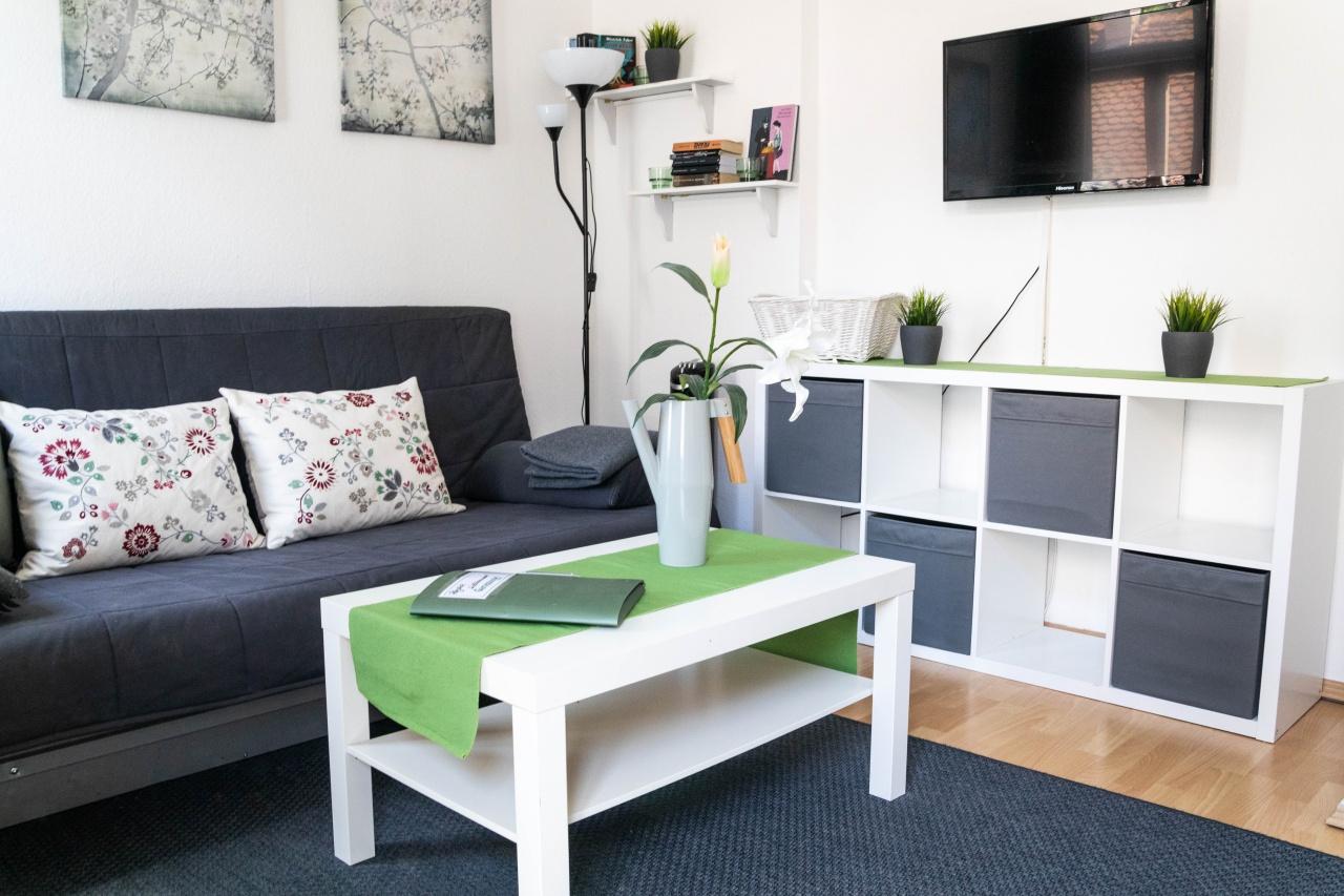 Wohn-/Essbereich im größeren Appartment