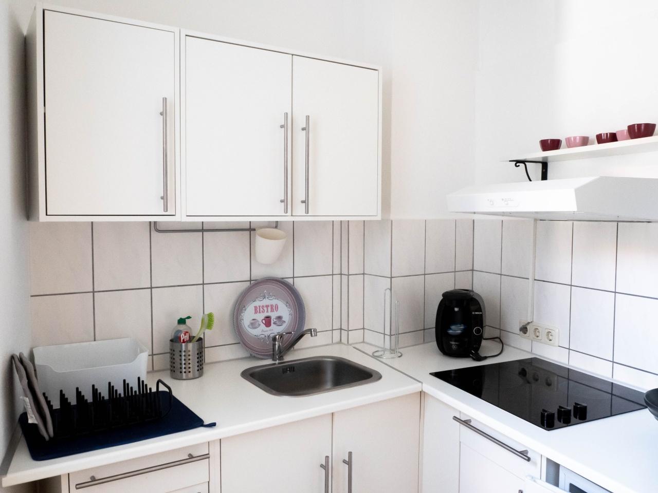 Küche im größeren Appartment