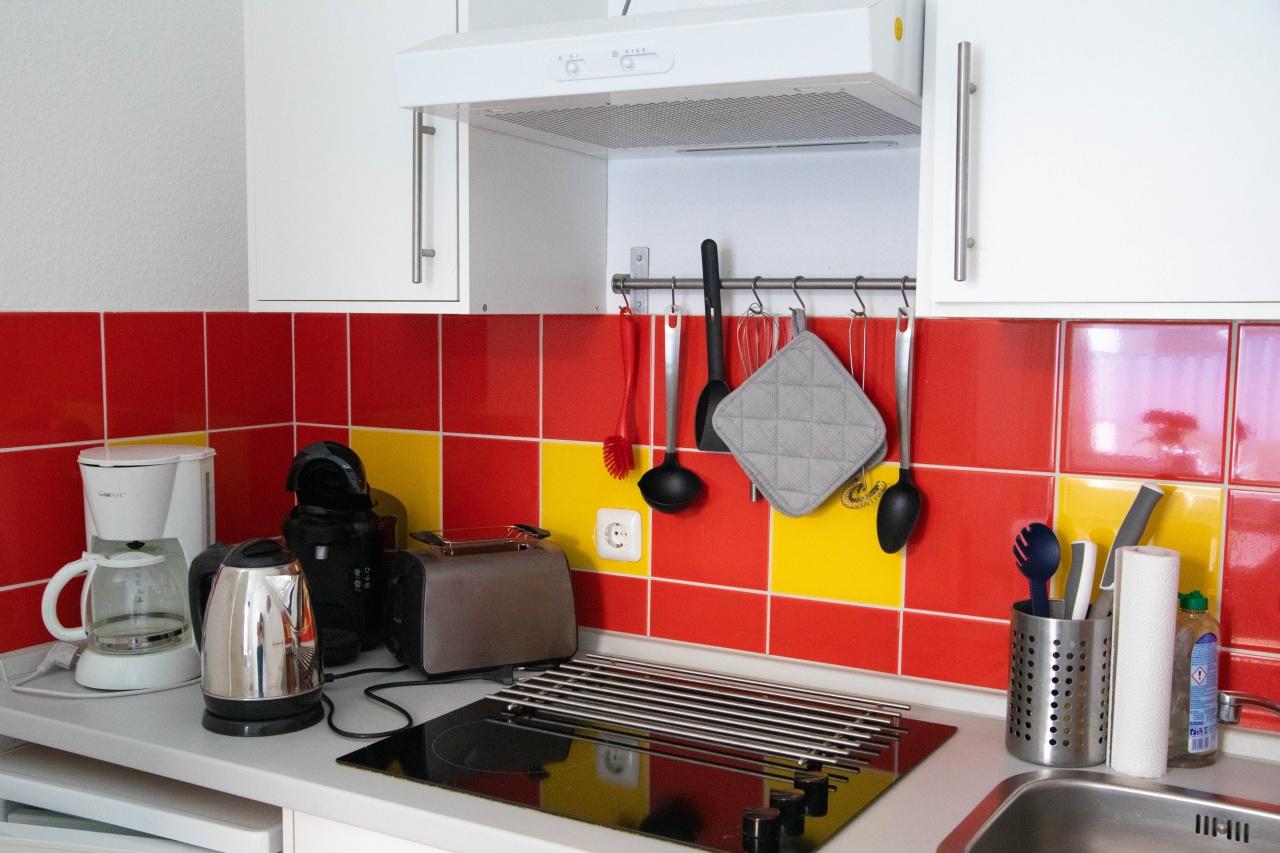 Küche im kleineren Appartment
